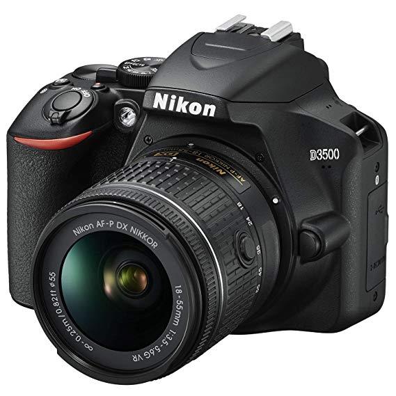 Nikon D3500 DSLR Camera with NIKKOR AF-P DX 18-55mm f/3.5-5.6G VR Lens Kit